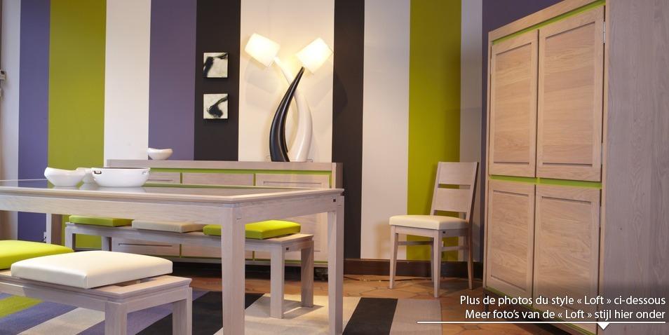 S lectionnez le style loft pour plus de photos de la for Salle a manger loft