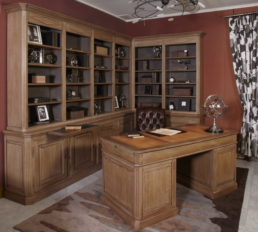 biblioth que et bureau classique louis 16 de rigaux. Black Bedroom Furniture Sets. Home Design Ideas