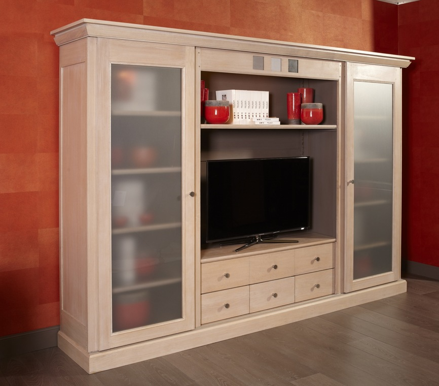 meuble tv linea avec portes coulissantes nombreux rangements disponibles les portes. Black Bedroom Furniture Sets. Home Design Ideas