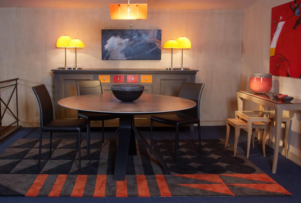 Table manger en c ramique vittoria by triss buffet - Destockage salle a manger ...