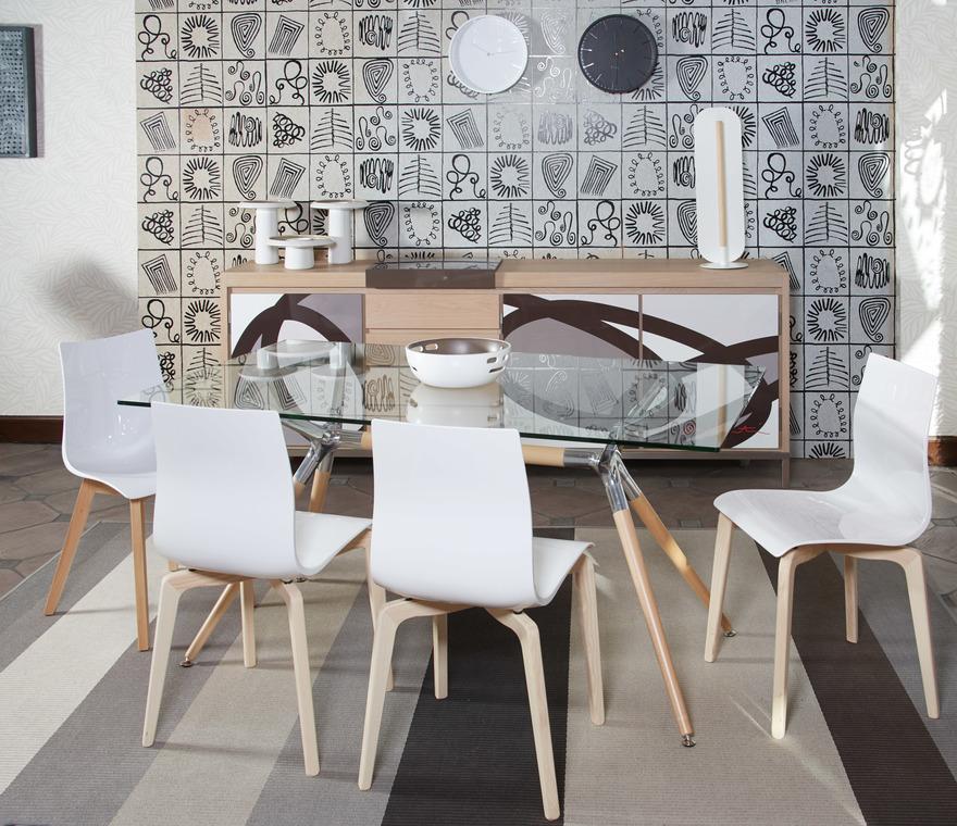 Salle manger metropolis table en verre de scab design buffet loft by visentin en ch ne de - Deco design eetkamer ...