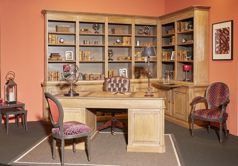 Biblioth que et bureau classique louis xvi de rigaux for Bibliotheque bureau sur mesure