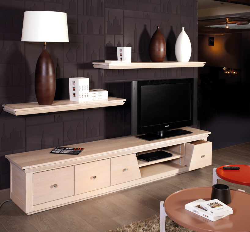 Meuble Tv Linea Planches Accrocher Au Mur