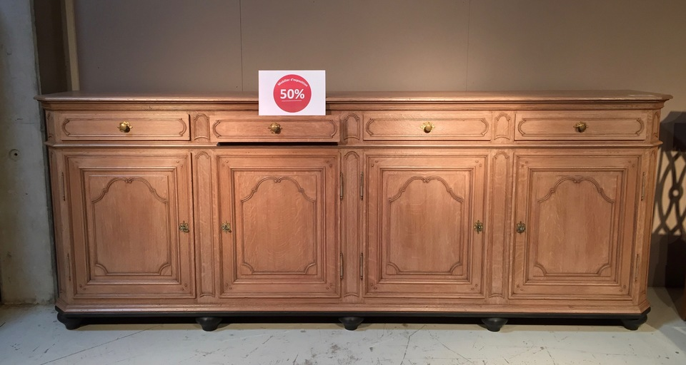 bahut louis xiv li geois 4 portes prix de vente d stockage 50. Black Bedroom Furniture Sets. Home Design Ideas