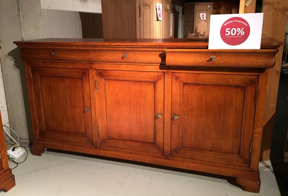 bahut louis philippe 3 portes prix de vente prix d stockage 50. Black Bedroom Furniture Sets. Home Design Ideas